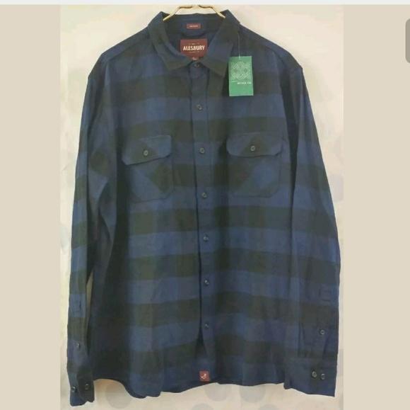 91b801e7014 Men s Stitch Fix Alesbury XL Blue Flannel Shirt
